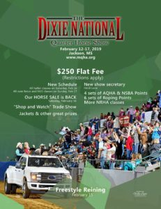 Dixie National Quarter Horse Show @ State Fairgrounds - Jackson, MS