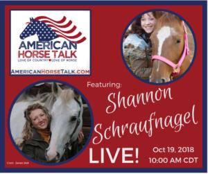 Shannon Schraufnagel on American Horse Talk LIVE