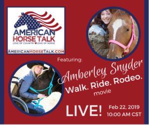 Amberley Snyder - American Horse Talk LIVE @ American Horse Talk Facebook PAGE