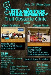 Trail Obstacle Clinic - Stillwater Trail Sports @ Tri-State Exhibition Center