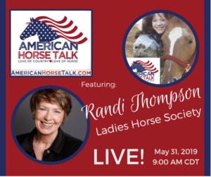 Randi Thompson - American Horse Talk LIVE @ American Horse Talk Facebook Official PAGE
