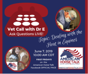 Vet Call with Dr E - Heat @ American Horse Talk Official Facebook PAGE